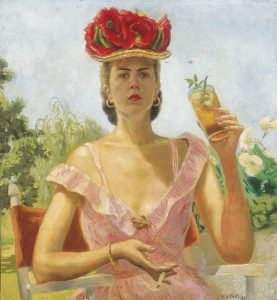 Mary Elizabeth Gifford, Summer, 1946 (self-portrait), oil on canvas