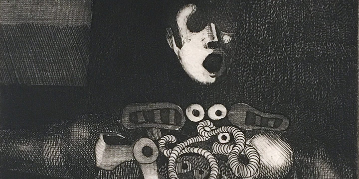 Keith Lowry, Mechanical Fantasy No. 5, etching (1/10), n.d.