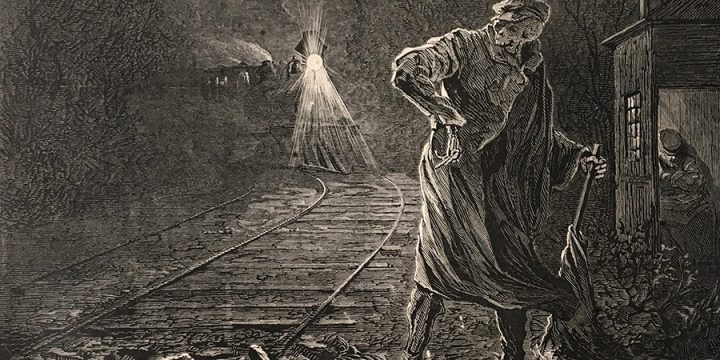 Jules Tavernier, Death on the Rail, wood engraving, published in Harper's Weekly,1873