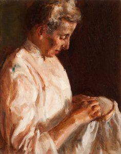 Alice Cleaver, Aunt Nettie, oil on linen, n.d.