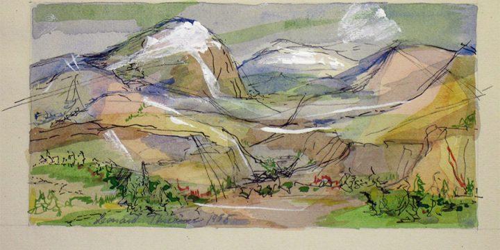 Katherine (Kady) Burnap Faulkner, Nebraska Sandhills, serigraph (25/50), 1940