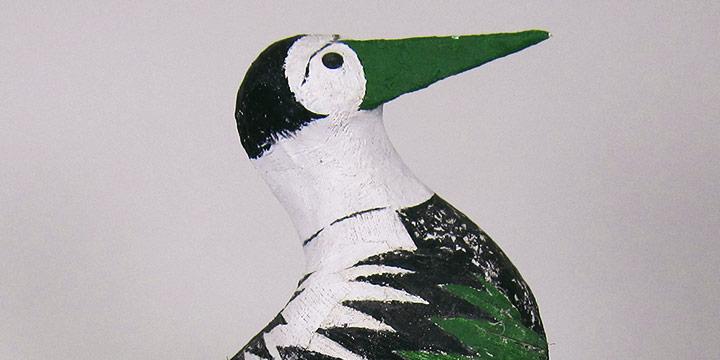 Mary Elizabeth Gifford, Untitled (sea gull), glue, guaze, paint, wood, 1986