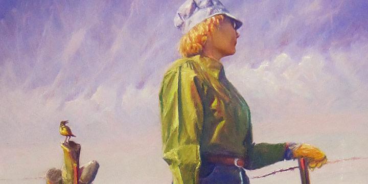 Mark Moseman, Meadowlark, pastel on museum board, n.d.,