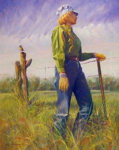 Mark Moseman, Meadowlark, pastel on museum board, n.d.