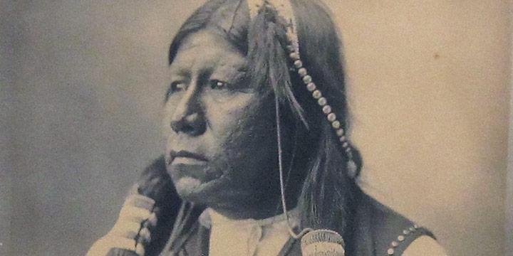 Adolph F. Muhr (Rinehart Studio), Chief Grand Richards - Chief of the Tonkawa, platinum print, 1898