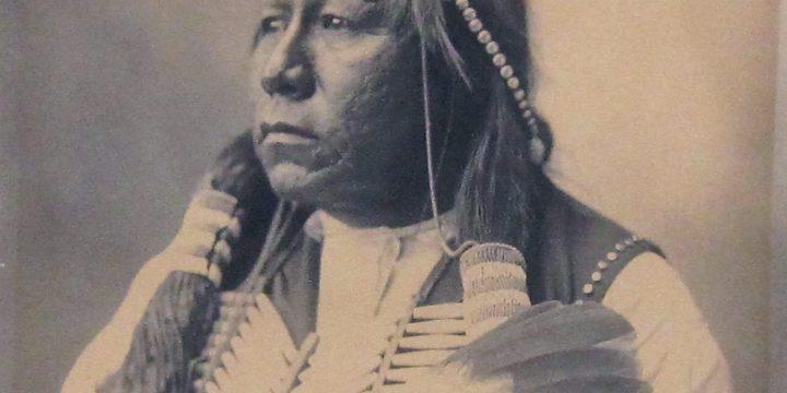 Adolph F. Muhr (Rinehart Studio), Chief Grant Richards - Chief of the Tonkawa, platinum print, 1898
