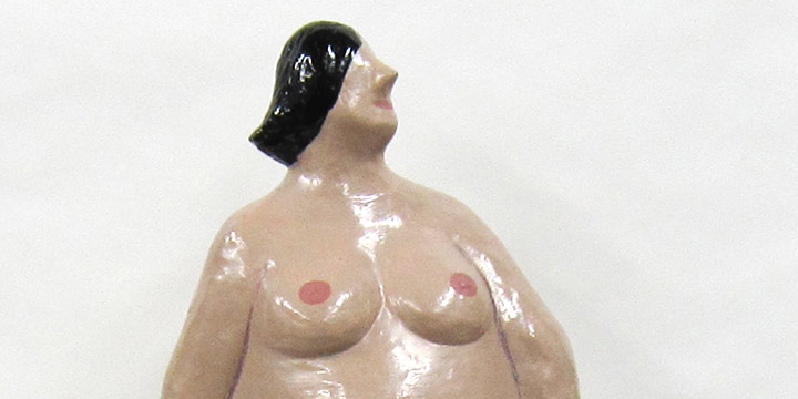 Mary Elizabeth Gifford, Untitled (nude woman with drape), polyester resin, epoxy paint, 1984