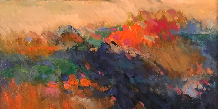 Keith Lowry, Landscape, oil on canvas, n.d.