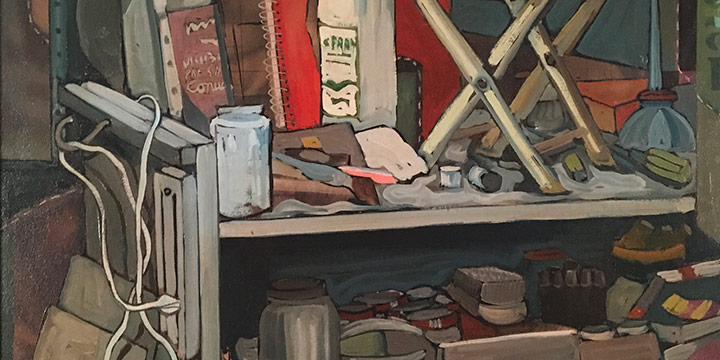 Keith Lowry, Still Life No. 1, oil on canvas, n.d.