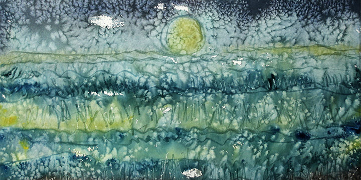 Larry Peterson, Snow Flurries - #945, watercolor, n.d.
