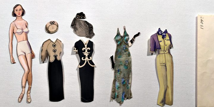 Mary Elizabeth (Emmy) Gifford, Stylish Paper Dolls, graphite,ink, ink wash, watercolor, 1934