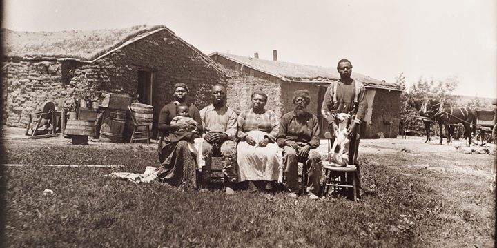 Solomon D. Butcher, The Shores family near Westerville,  Custer County, Nebraska, 1887, black & white photograph  (from glass plate negative in the Nebraska State Historical Society Collection)