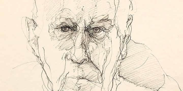 Paul Otero, Untitled (Leonard Thiessen), ink, n.d.