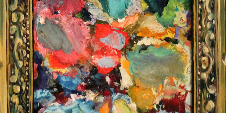 Keith Lowry, Keith's Palette, oil on board, n.d.