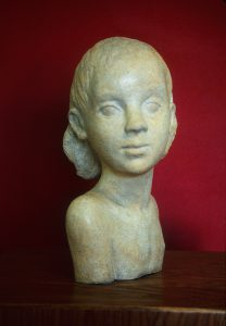 Phyllis Campbell, Young Girl, ceramic, 1944, 1977.01