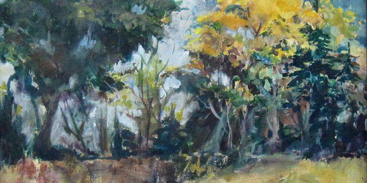Virginia Rinder, Golden Tree, acrylic on canvas, 1979