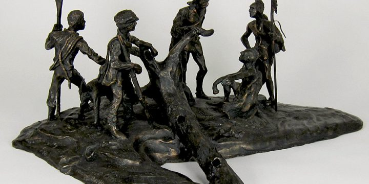Tom Palmerson, Lewis and Clark Finding the Way, bronze (1/30), 1979