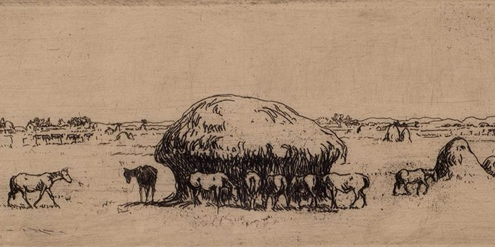 Mahonri Mackintosh Young, Nebraska, etching, c. 1935