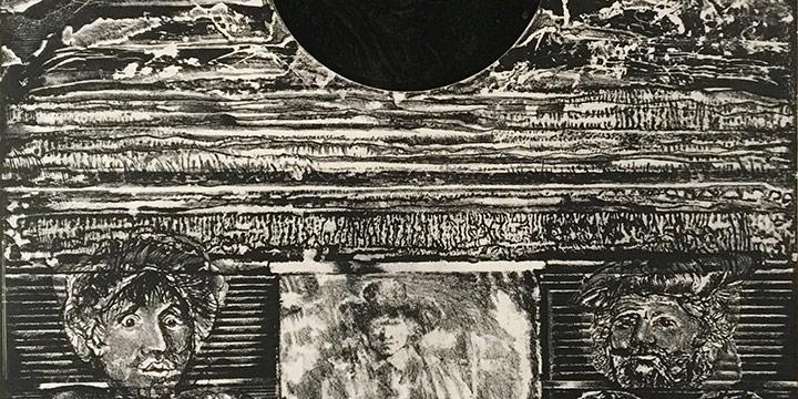 Rudy Pozzatti, Homage to Rembrant, lithograph (24/50), 1975
