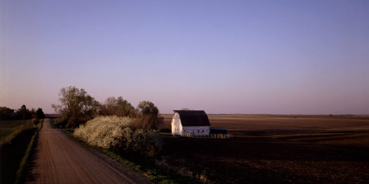 John Spence, North of Davey Road, Lancaster County, Nebraska - April 19, 1988, color photograph, 1988