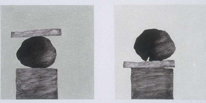 Lana Miller, Interim, ink, color pencil on paper, 1994