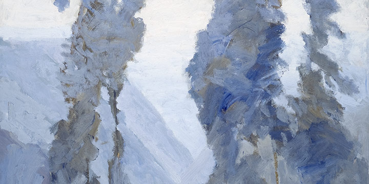 George Barker, Potrero Canyon - Study 2, oil, n.d.