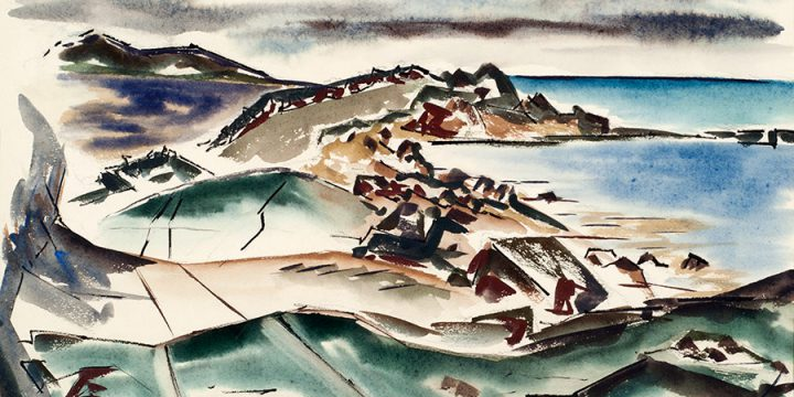 Norris Alfred, Untitled (Nashawena Island, off Woods Hole, Massachusetts), watercolor, 1965