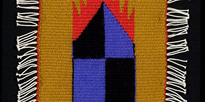 Mary Zicafoose, Fire House Series #12, tapestry, hand-dyed wool, cotton warp, 2004