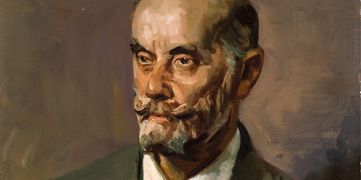 George Barker, Untitled (portrait of a man), oil on linen, c. early to mid 1900s