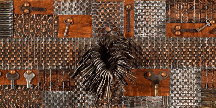 Olga Folda Stepanek, Metal Collage (Heumann keys), metal, 1971