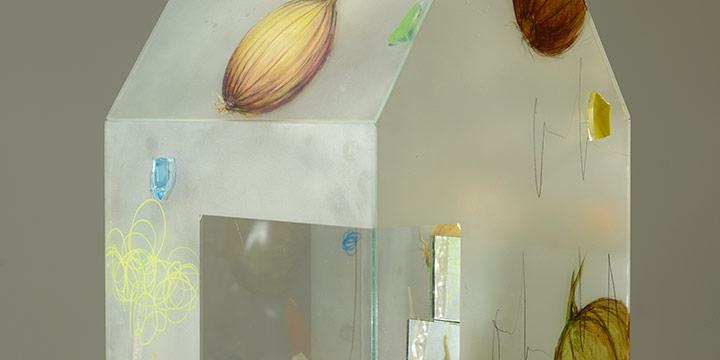 Therman Statom, Onions (house), mixed media, 2007