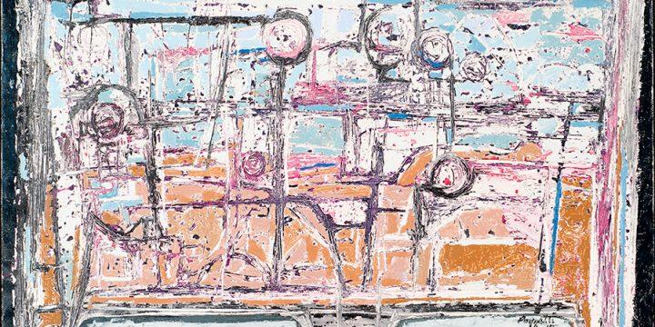 Rudy Pozzatti, Reliquary, oil on canvas, 1959