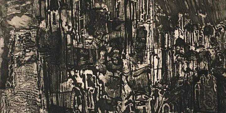 Rudy Pozzatti, Night in Etruria, etching (AP), 1963