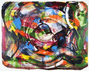 Littleton Alston, oil on paper, 1989