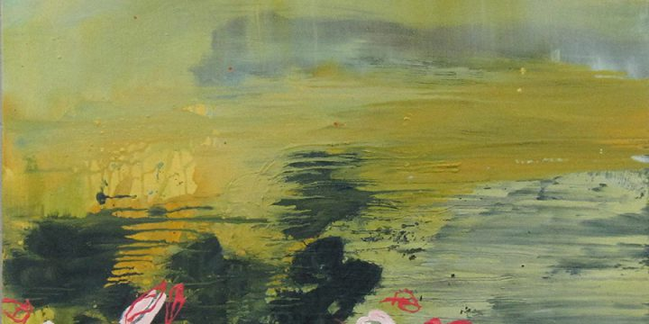 Christina Narwicz, Adrift, oil on canvas, c. 2010 (diptych panel 2)