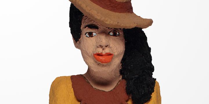 Reece Crawford, Carmeletta, glue, paint, shredded paper, 1991