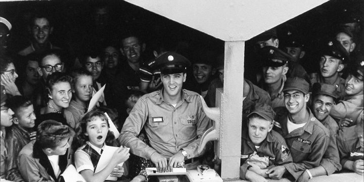 Bill Ray, Elvis Presley (on troop ship), silver gelatin print, 1958