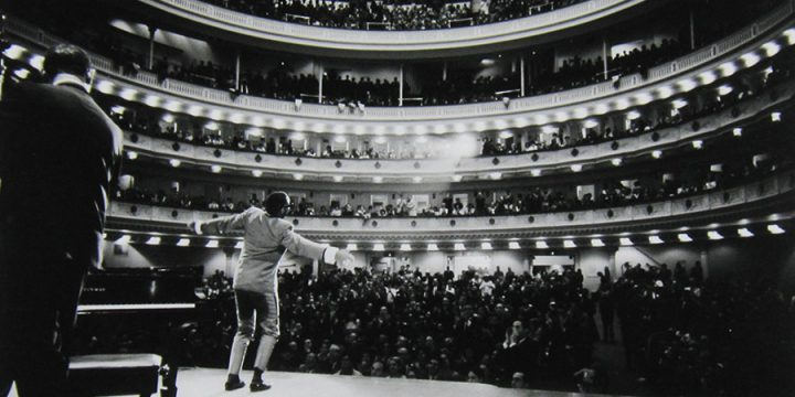 Bill Ray, Ray Charles (on stage at Carnegie Hall), silver gelatin, 1966