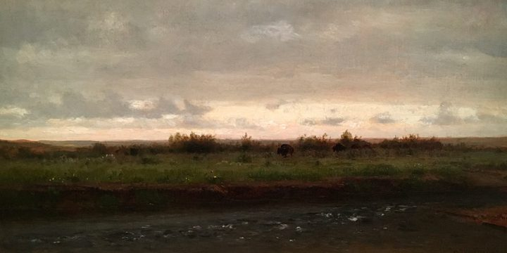 Thomas Worthington Whittredge, Evening Along the Platte River, oil on canvas, n.d.,