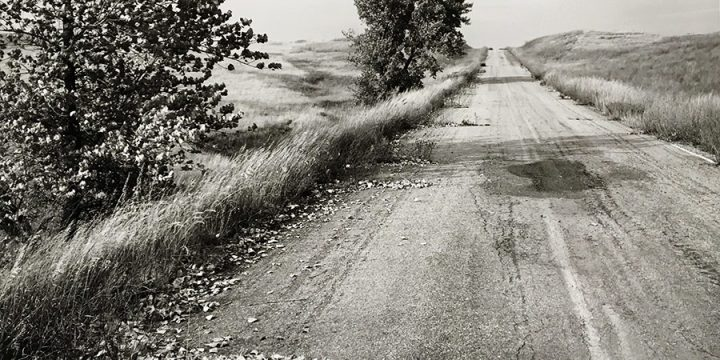 Robert Adams, Nebraska State Highway 2,  Box Butte County, Nebraska, 1978, gelatin silver print, printed 1989