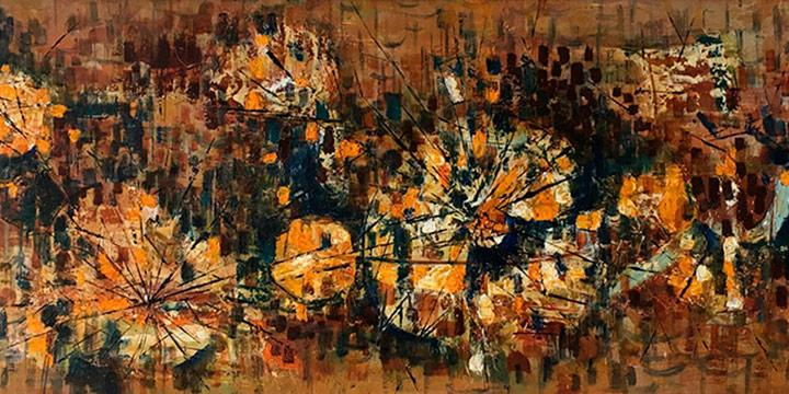 William E. Artis, Mosaic in Oil, oil on board, c. 1959