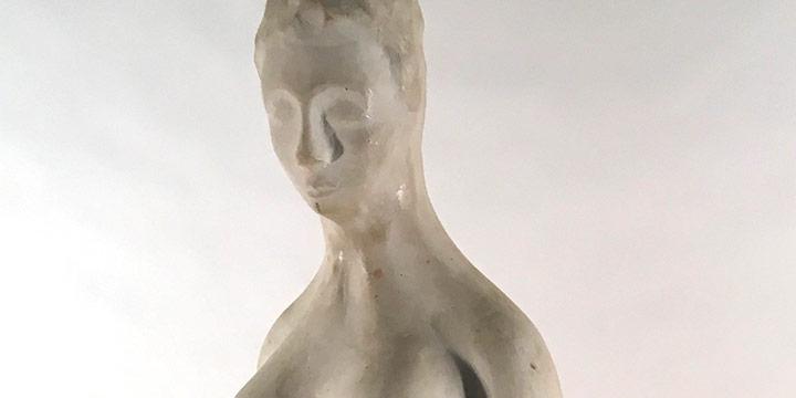 Elmer Holzrichter, Untitled (nude female), ceramic, n.d.