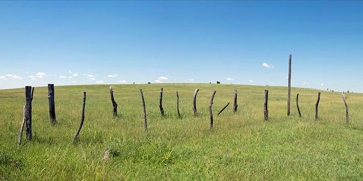 John Spence, Landscape Series: Chautauqua County, Kansas, August 16, 2016, silver halide color photograph, 2016