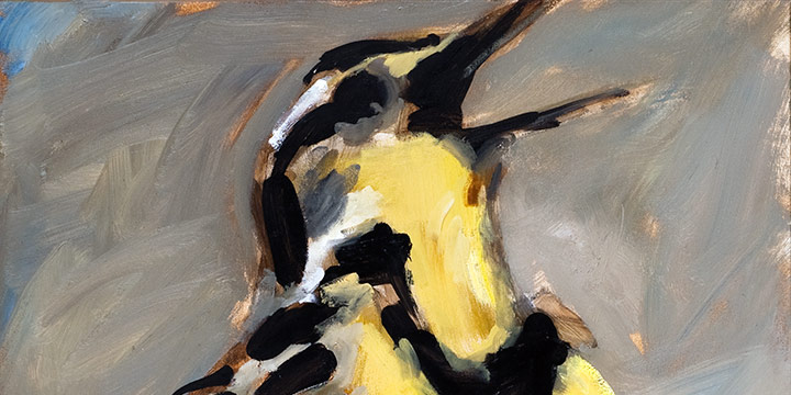 Nadine McHenry, Meadowlark, oil on canvas, 2002