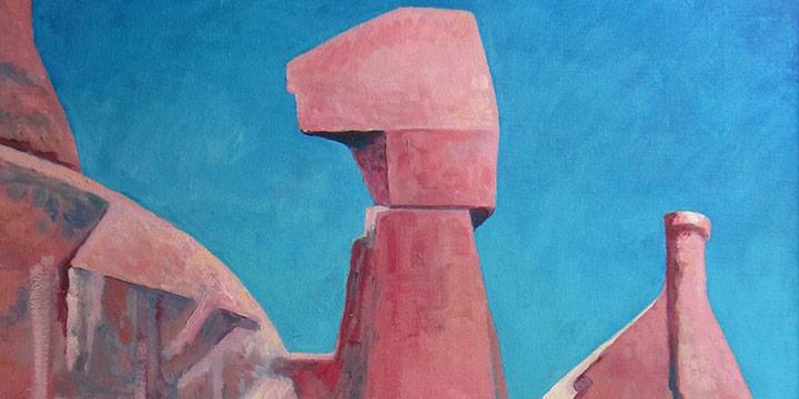 Elizabeth Quinton, Sandstone Monuments, oil on canvas, n.d.