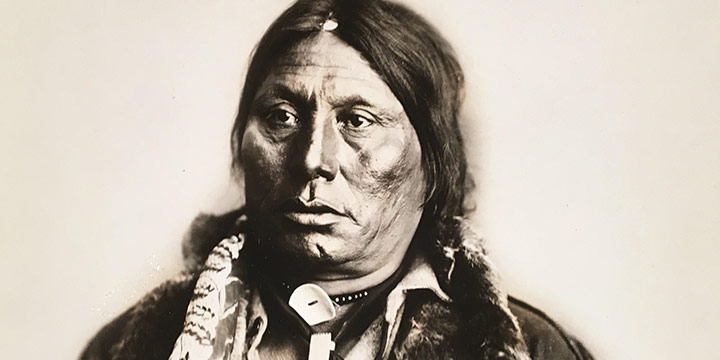 David Frances Barry, Chief Gall (mature), black & white photograph, n.d.