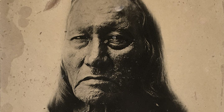 David Frances Barry, Chief Running Antelope - the Great Orator of the Sioux, black & white photograph, n.d.