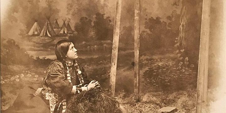 David Frances Barry, Indian Mother at Grave, black & white photograph, n.d.