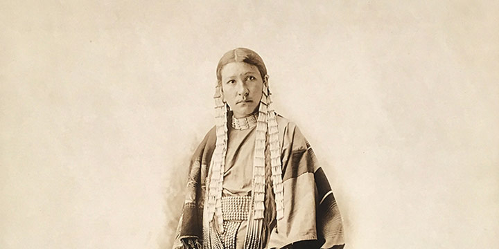 David Frances Barry, Shooting Star, Winona (Sioux), black & white photograph, n.d.