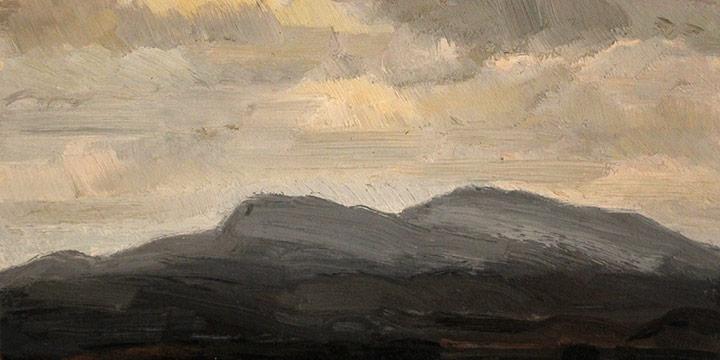 George Barker, Study Panel - Landscape, oil, c. 1898-1957?